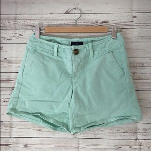 American Eagle women's green midi casual shorts 0
